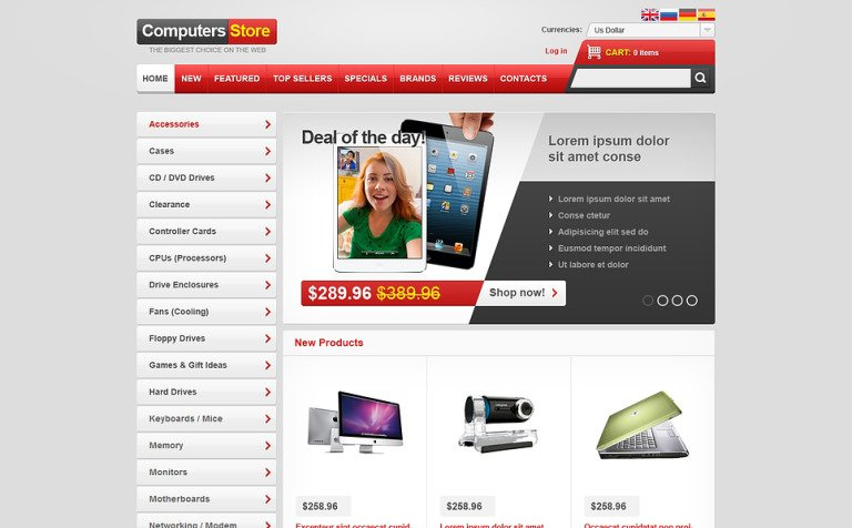 Computers for You OsCommerce Template