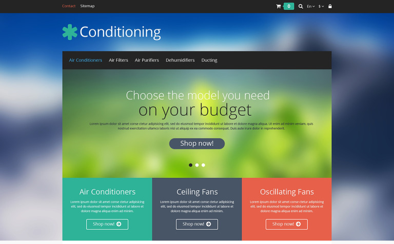 Conditioning PrestaShop Theme