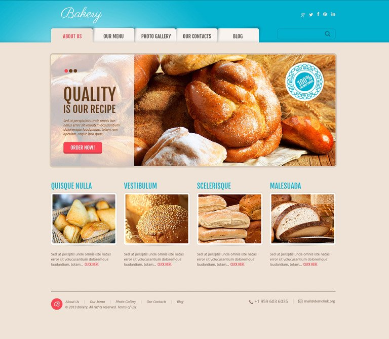 Delicious Bakery WordPress Theme New Screenshots BIG