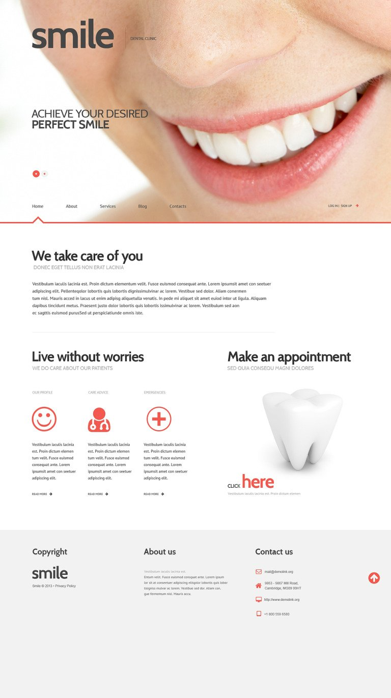 Dentistry Responsive WordPress Theme New Screenshots BIG