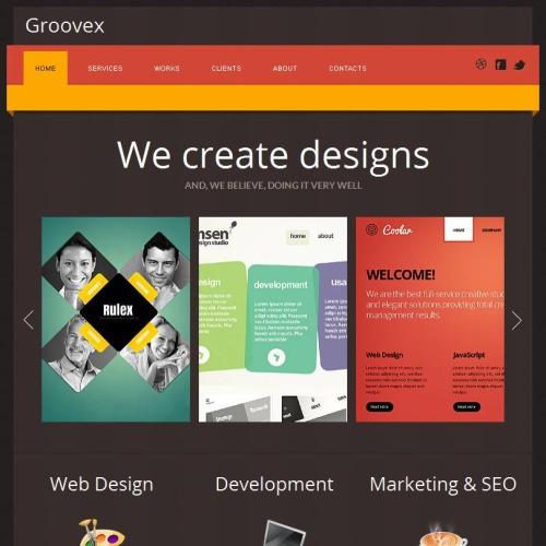 Groovex - Facebook HTML CMS Template