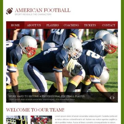 Facebook HTML CMS Vorlage für Fußball