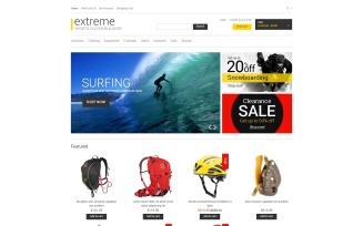 Gear for Extreme Hobbies OpenCart Template
