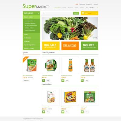 grocery store zencart template 47069