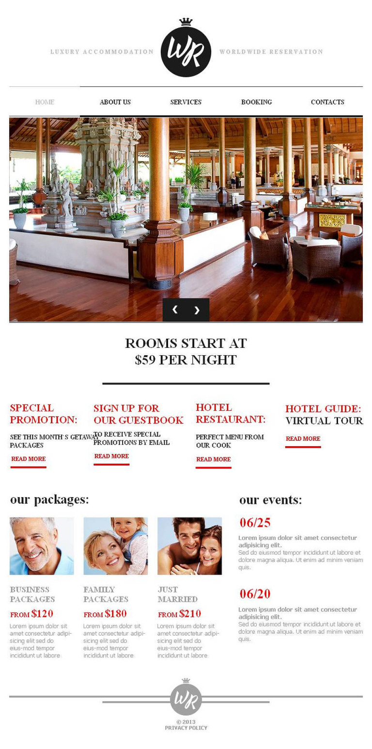Hotels Facebook HTML CMS Template New Screenshots BIG