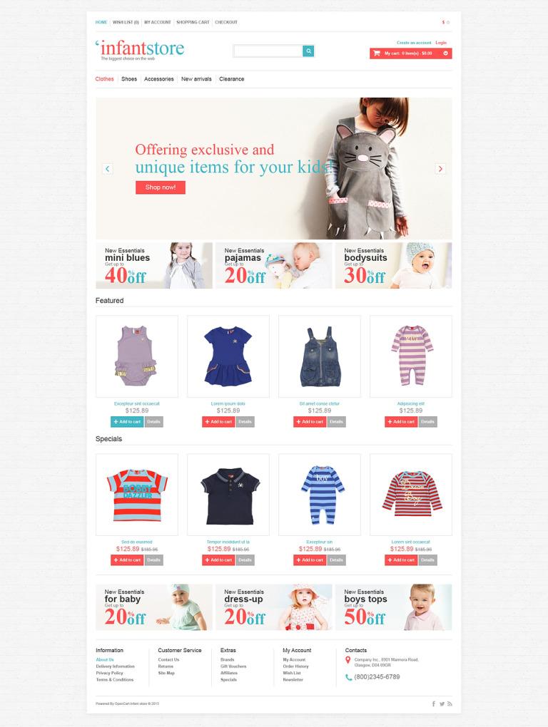 Infant Store OpenCart Template New Screenshots BIG