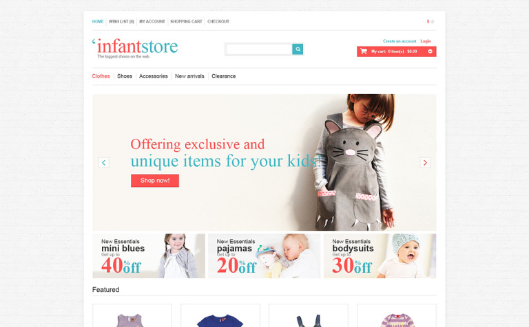 Infant Store OpenCart Template
