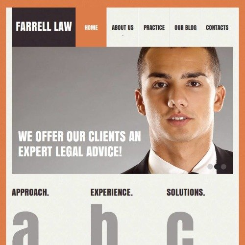 Farrell Law - Facebook HTML CMS Template