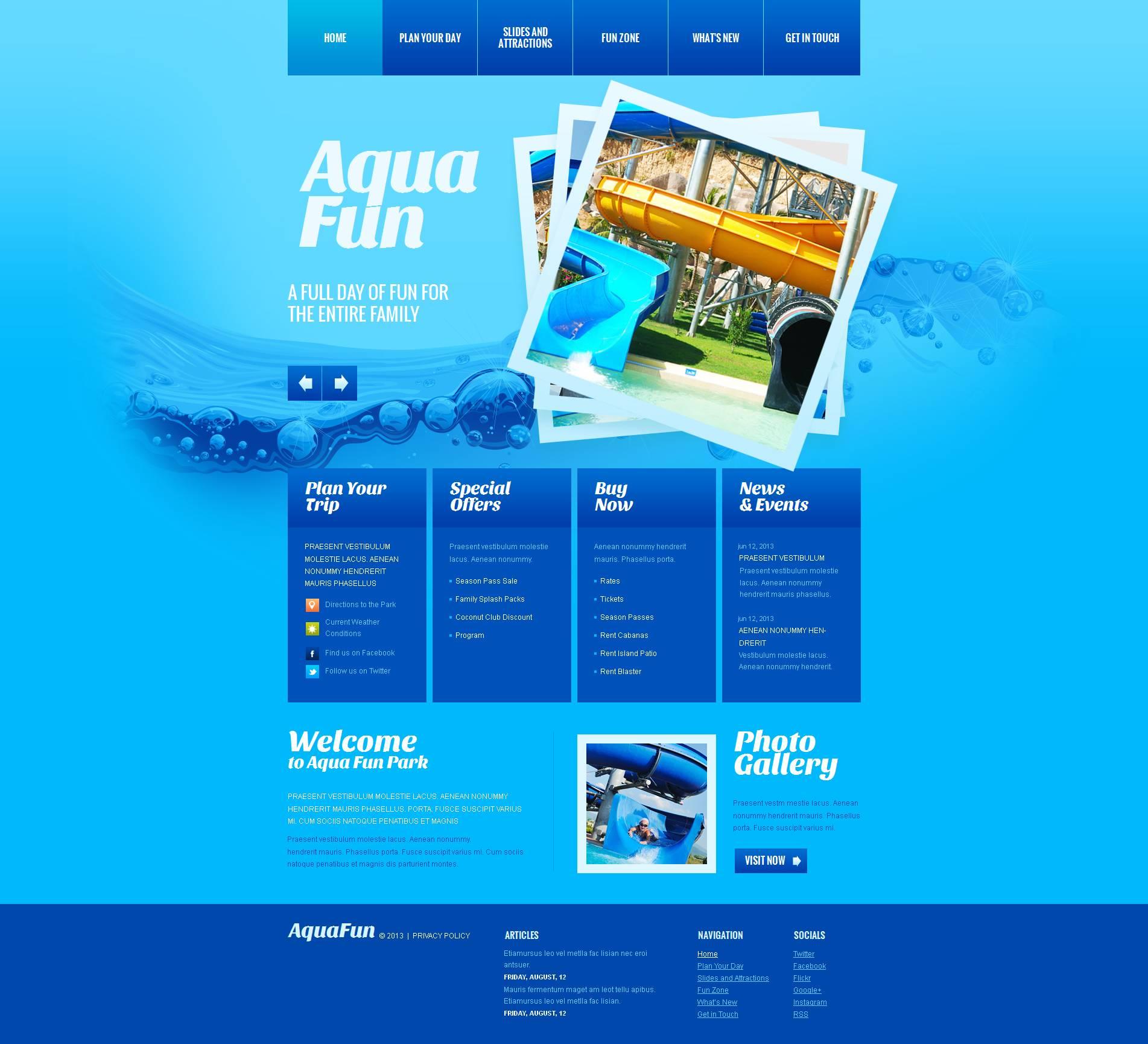 Modèle Moto CMS HTML Premium pour site de parc d'attractions #47023