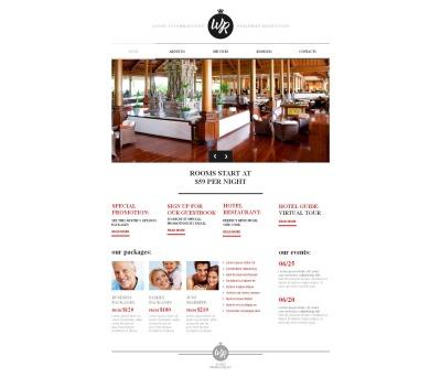 Moto CMS HTML Vorlage für Hotels