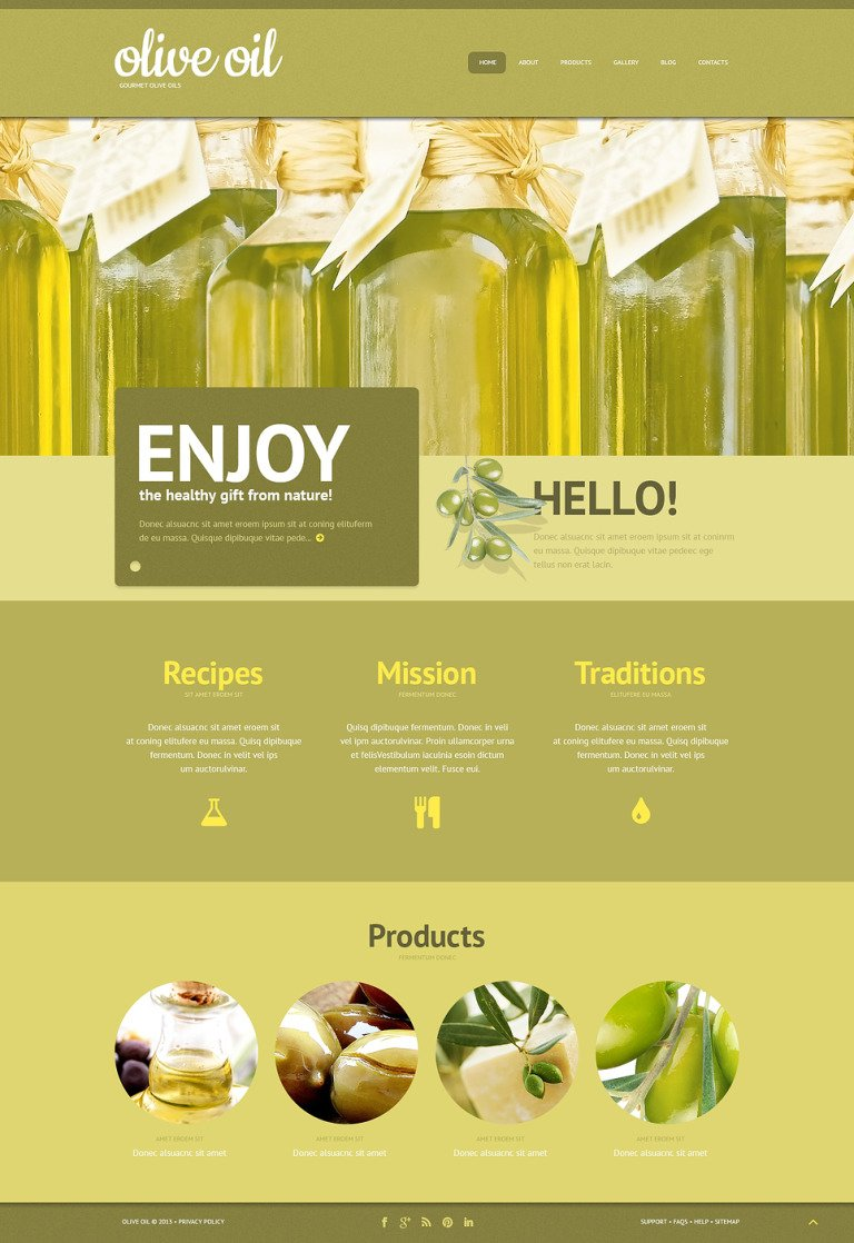 Olive Oil WordPress Theme New Screenshots BIG