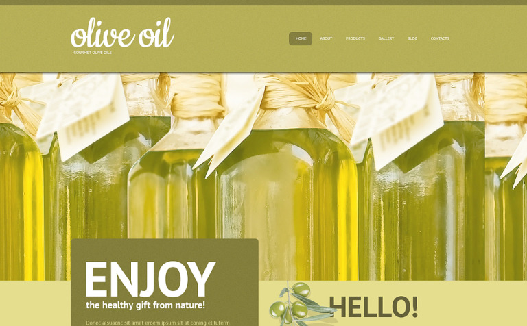 Olive Oil WordPress Theme