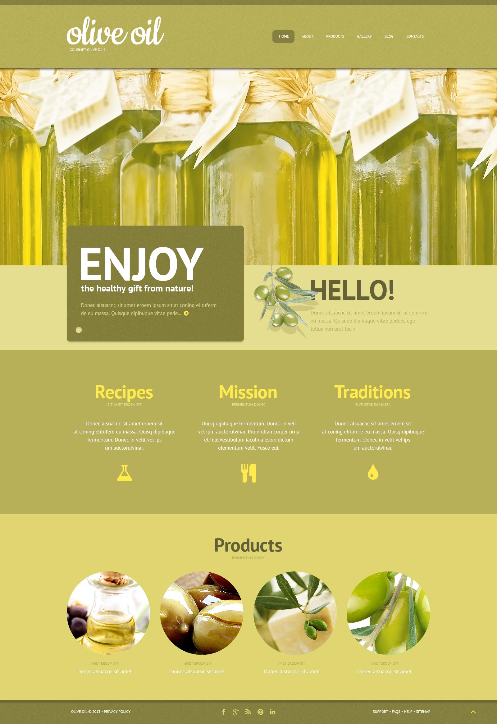 Olive Oil WordPress Theme #47003