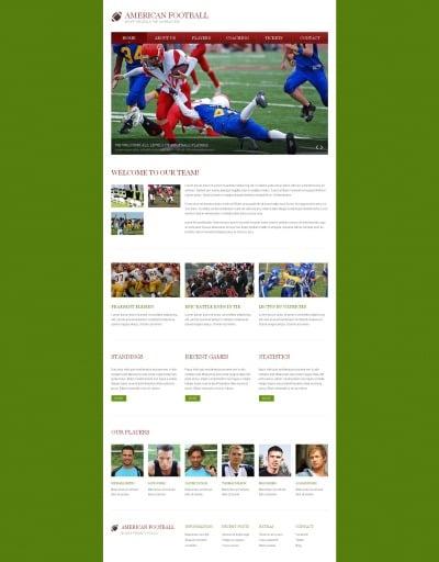 Football Responsive Moto CMS HTML Sablon
