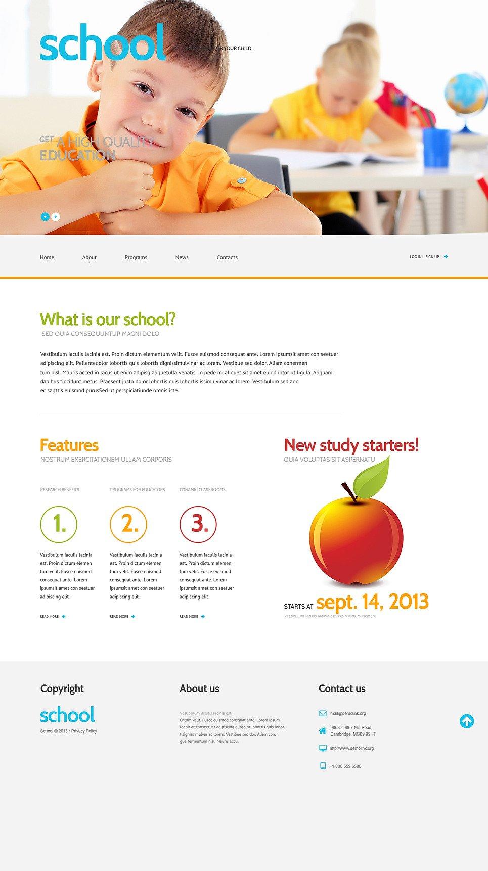 Primary School Responsive WordPress Theme New Screenshots BIG