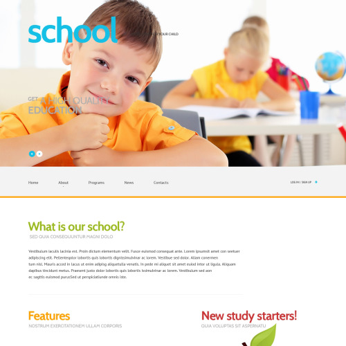 School - WordPress Template based on Bootstrap