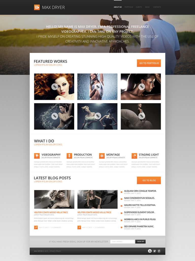 Pro Photographer Portfolio WordPress Theme New Screenshots BIG