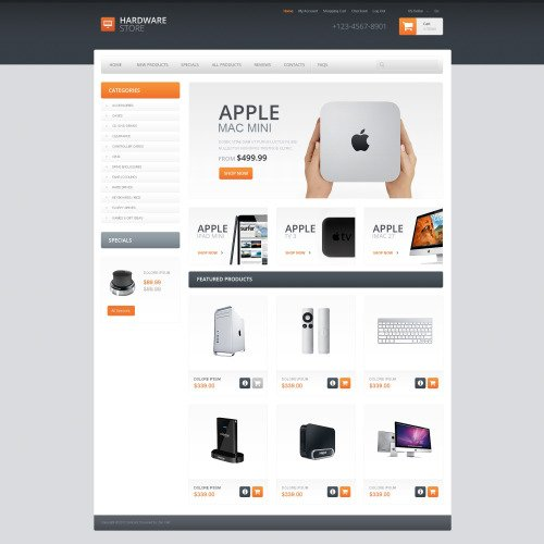 Apple Mac Mini - HTML5 ZenCart Template