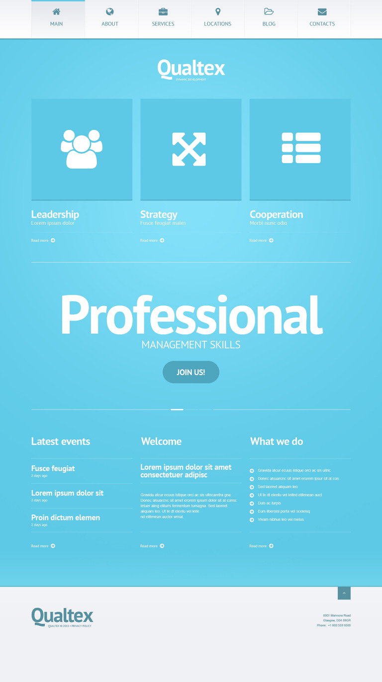 Qualtex WordPress Theme New Screenshots BIG