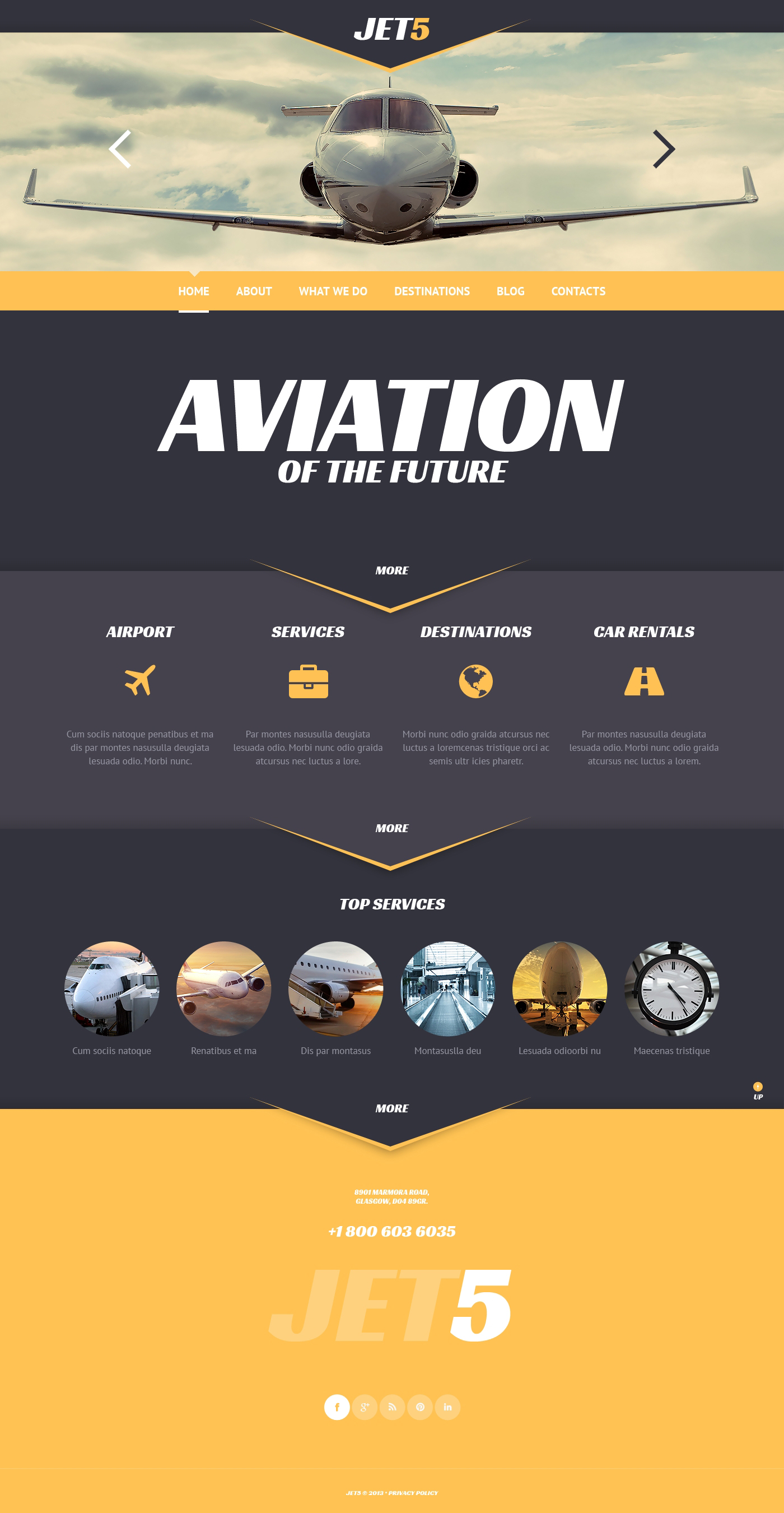 Responsive Private Airlines Wordpress #47005