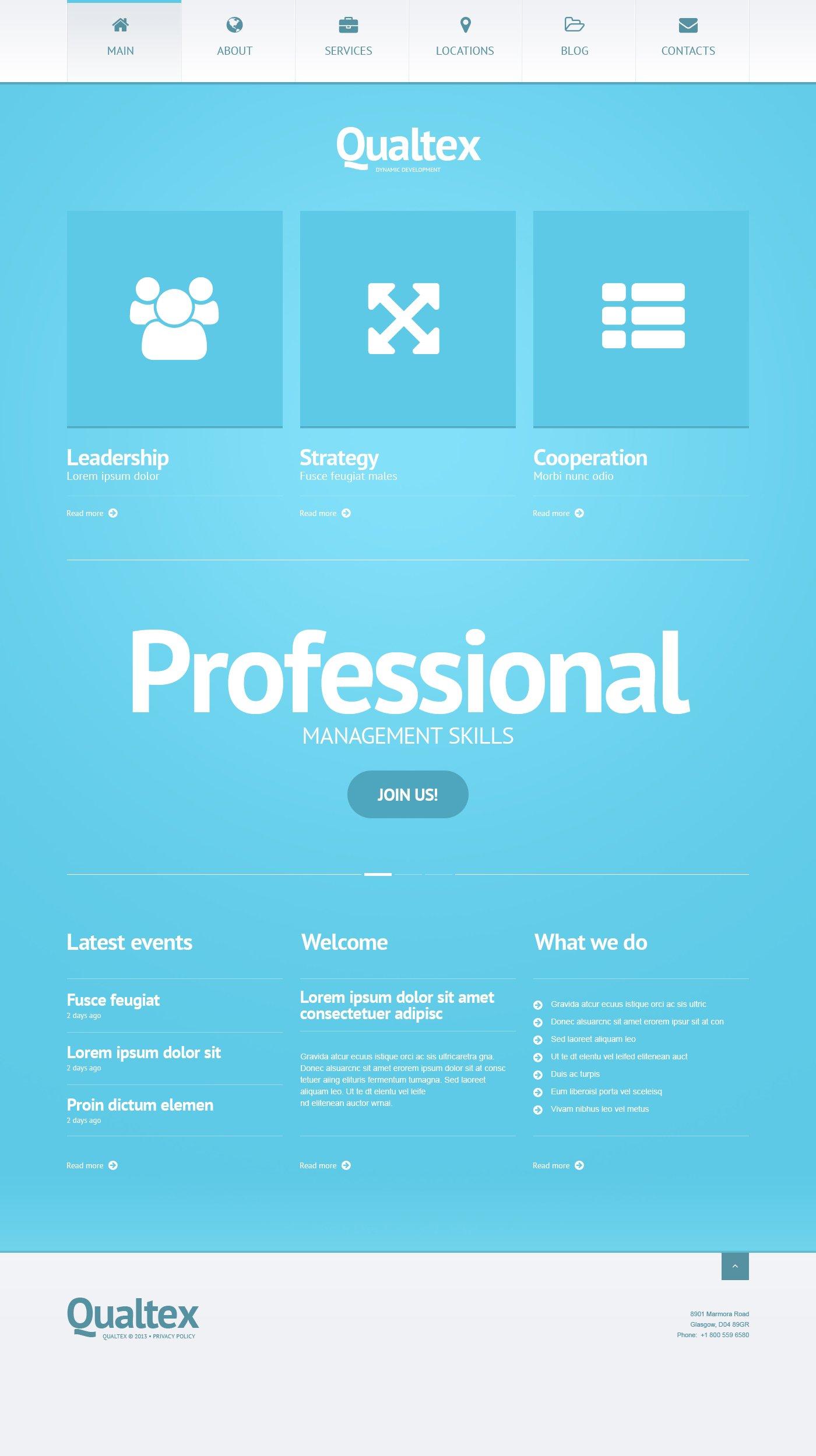 Responsive Qualtex Wordpress #47010 - Ekran resmi