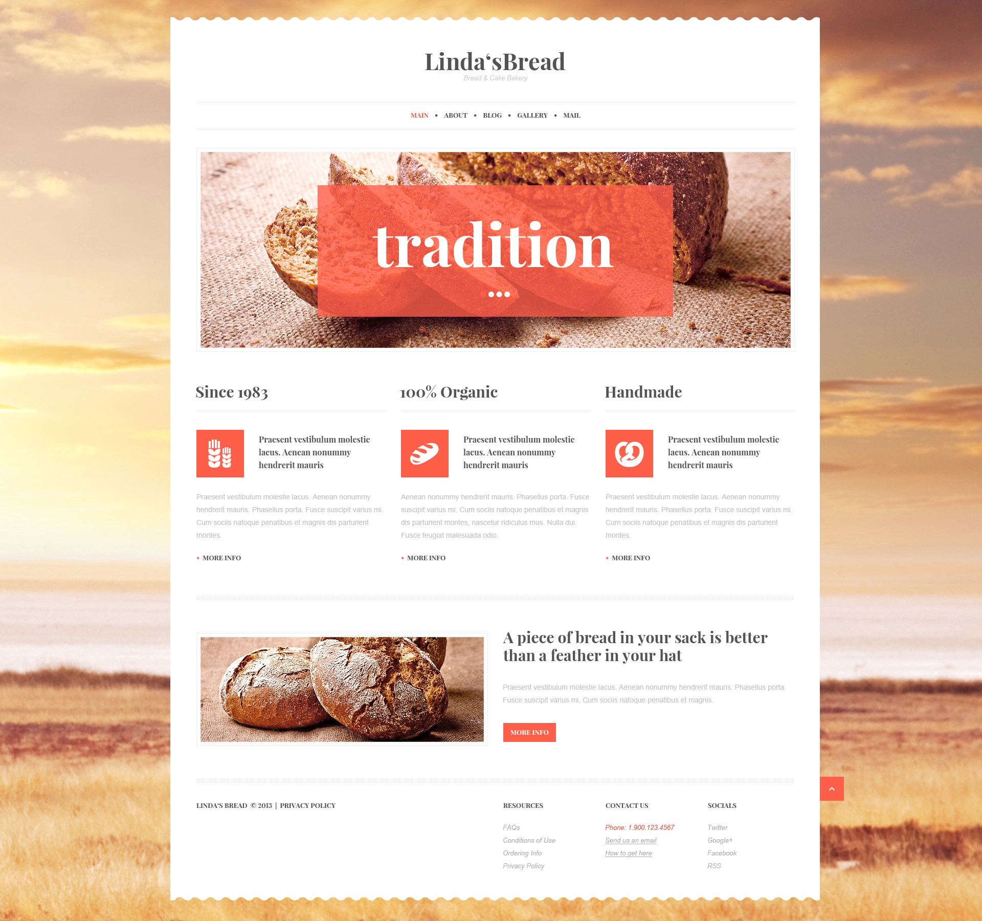 Responsivt Bakery for Saving Tradition WordPress-tema #47015