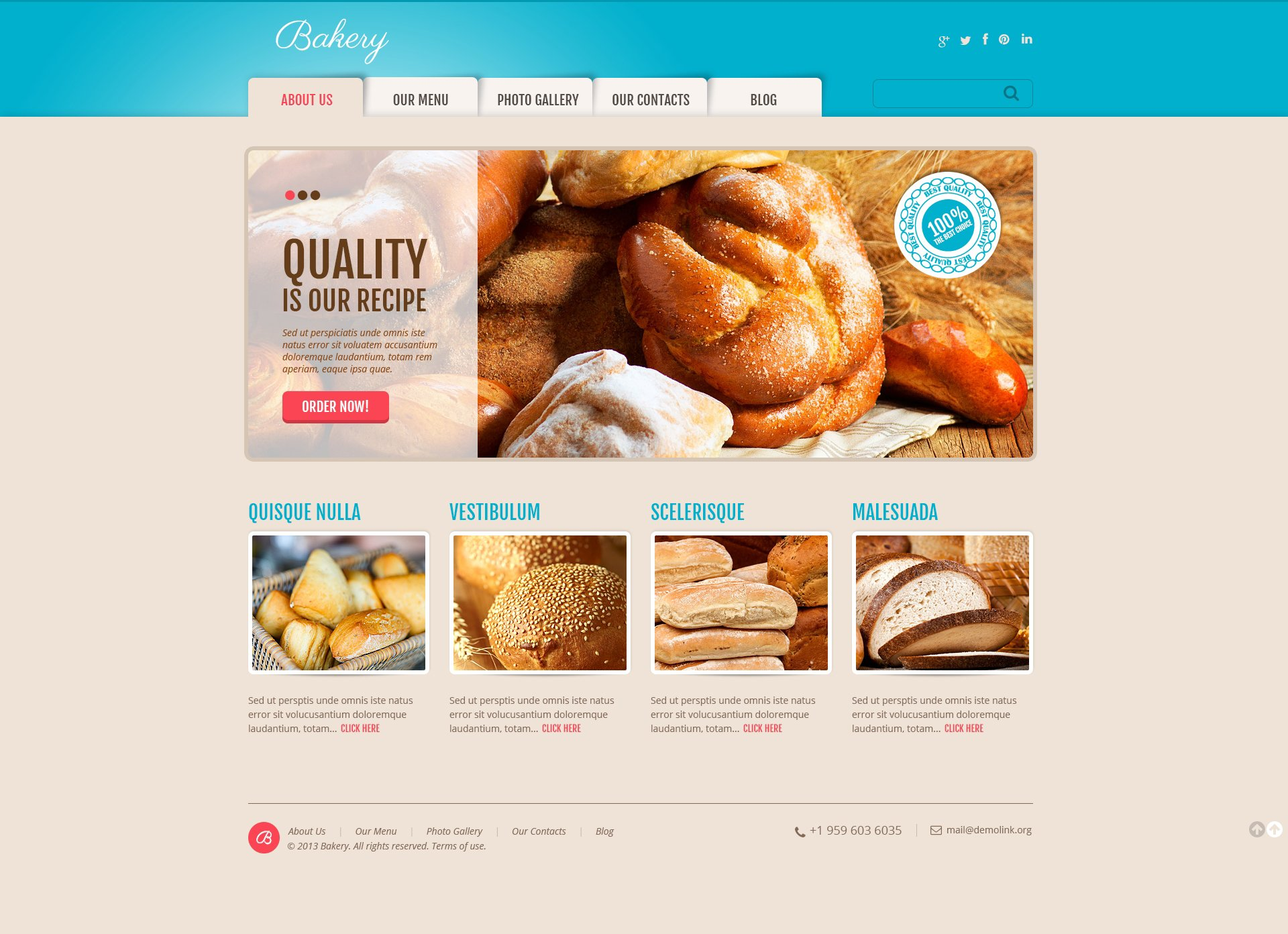 Responsivt Delicious Bakery WordPress-tema #47006