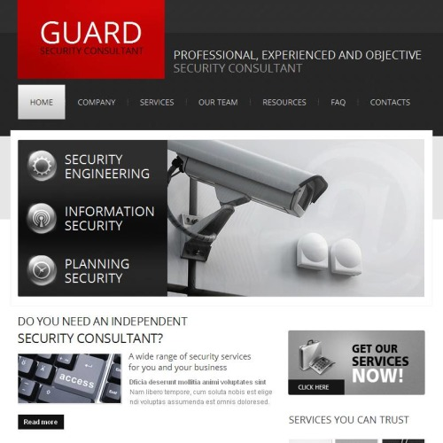 Guard - Facebook HTML CMS Template