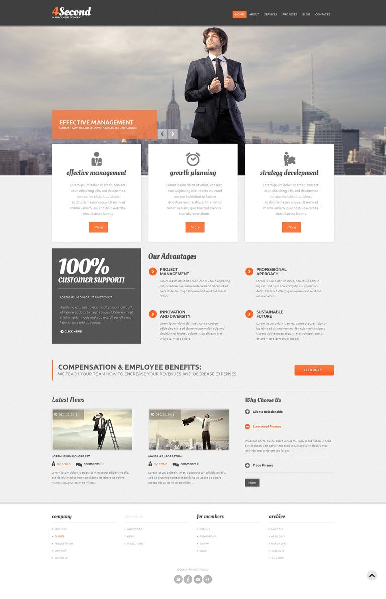 Solution for Management Corp Drupal Template New Screenshots BIG