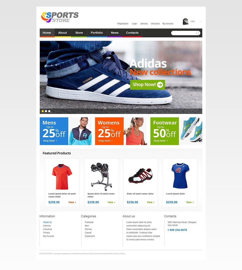 Sport Life WooCommerce Theme New Screenshots BIG