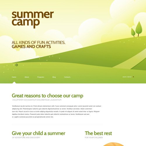 Summer Camp - Tourism Template based on Bootstrap