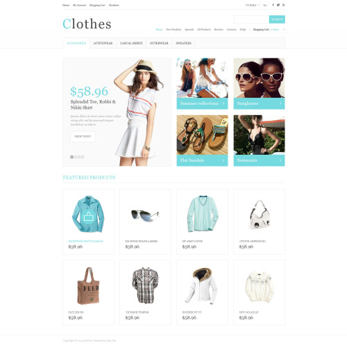 Clothes - HTML5 ZenCart Template
