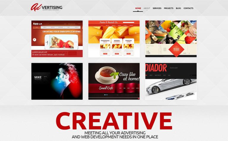 Tema de WordPress #47007 para Sitio de Agencias de publicidad