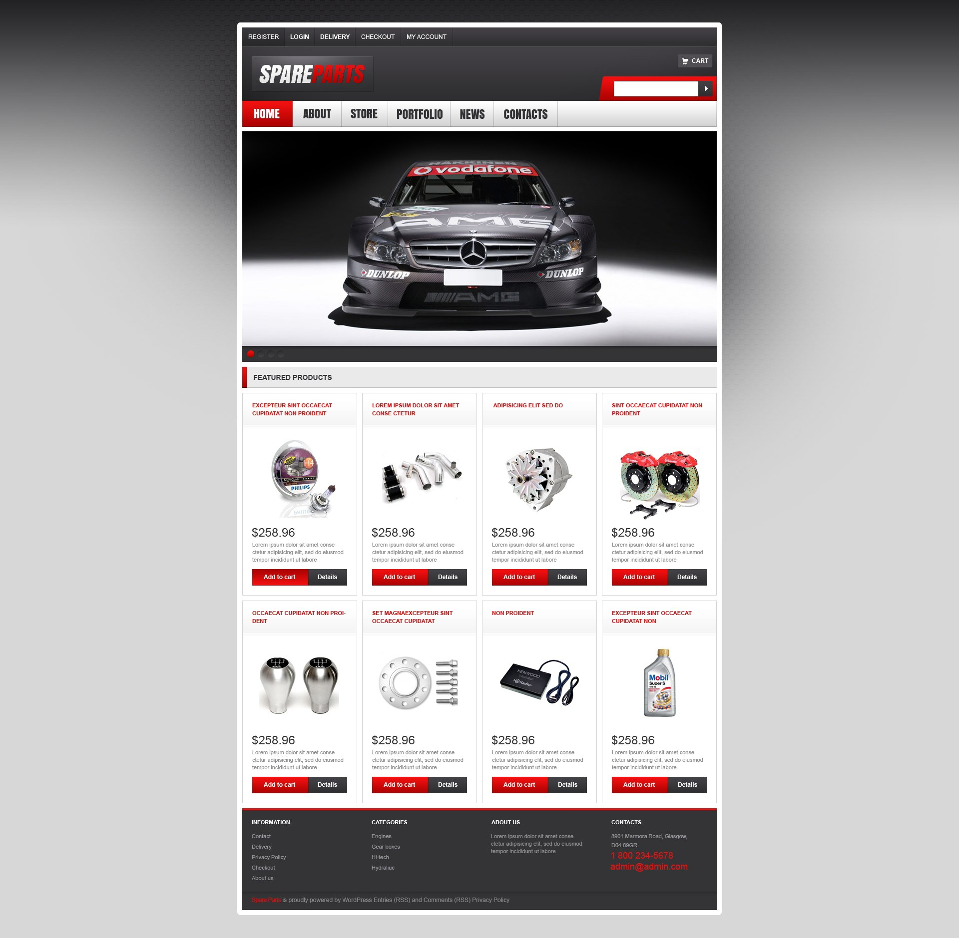 """Tema WooCommerce """"Top Quality Spares"""" #47075"""