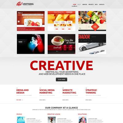 Tema WordPress Flexível para Sites de Agencia de Publicidade №47007