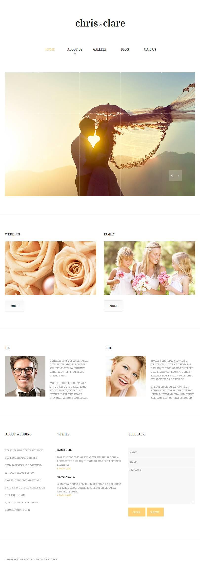 Templates CMS em HTML de Facebook №47058 - captura de tela