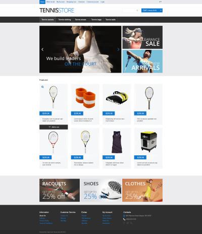 tennis opencart templates