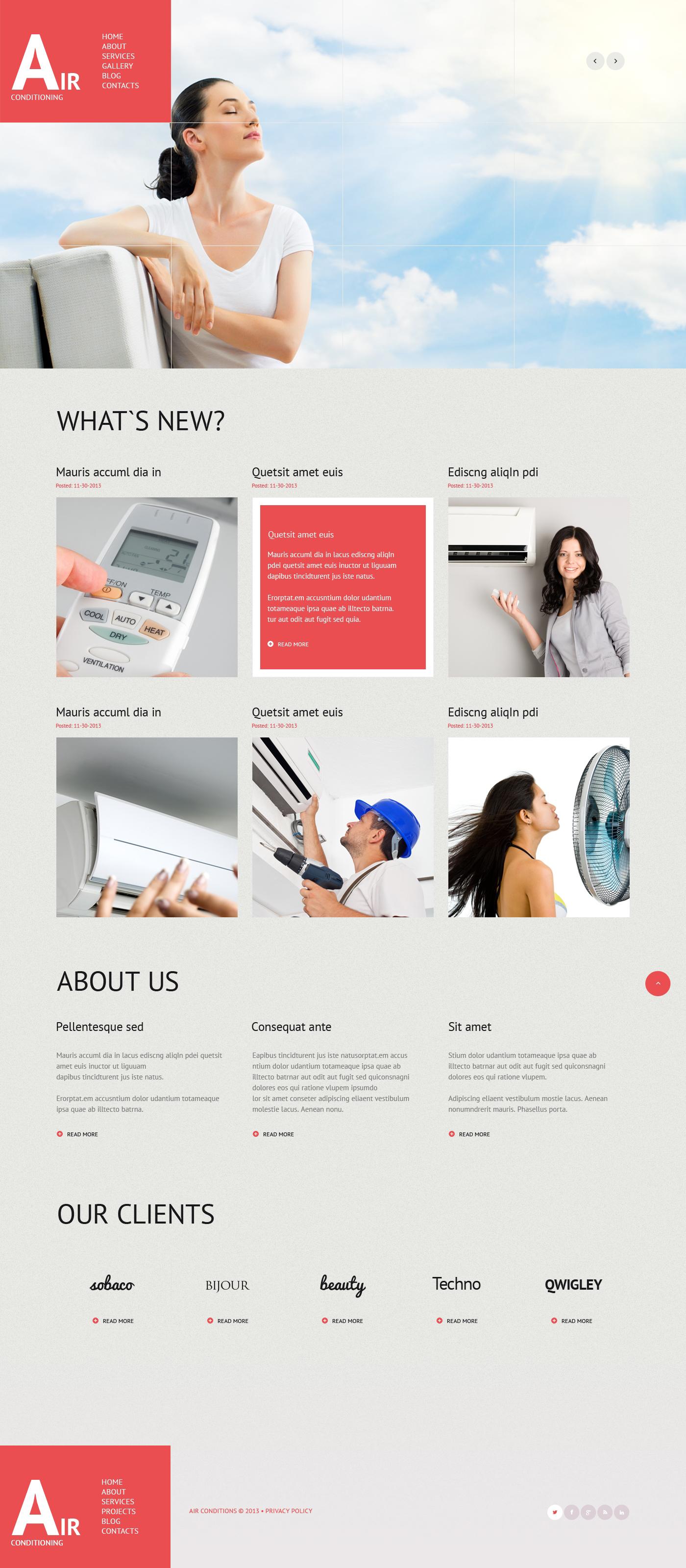 Thème WordPress adaptatif pour magasin de climatisation #47018