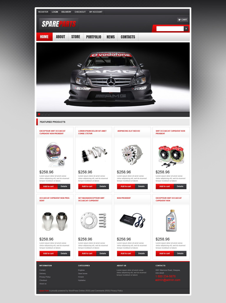 Top Quality Spares WooCommerce Theme New Screenshots BIG