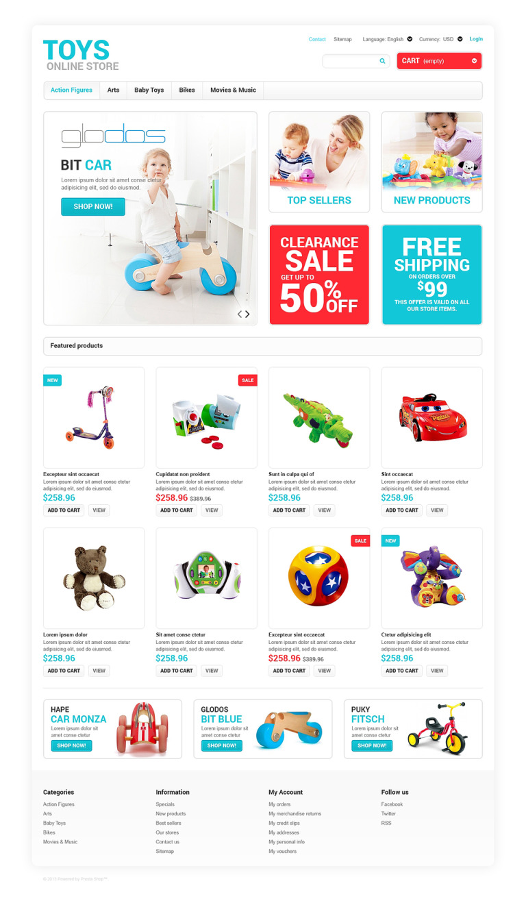 Toys for Any Age PrestaShop Theme New Screenshots BIG