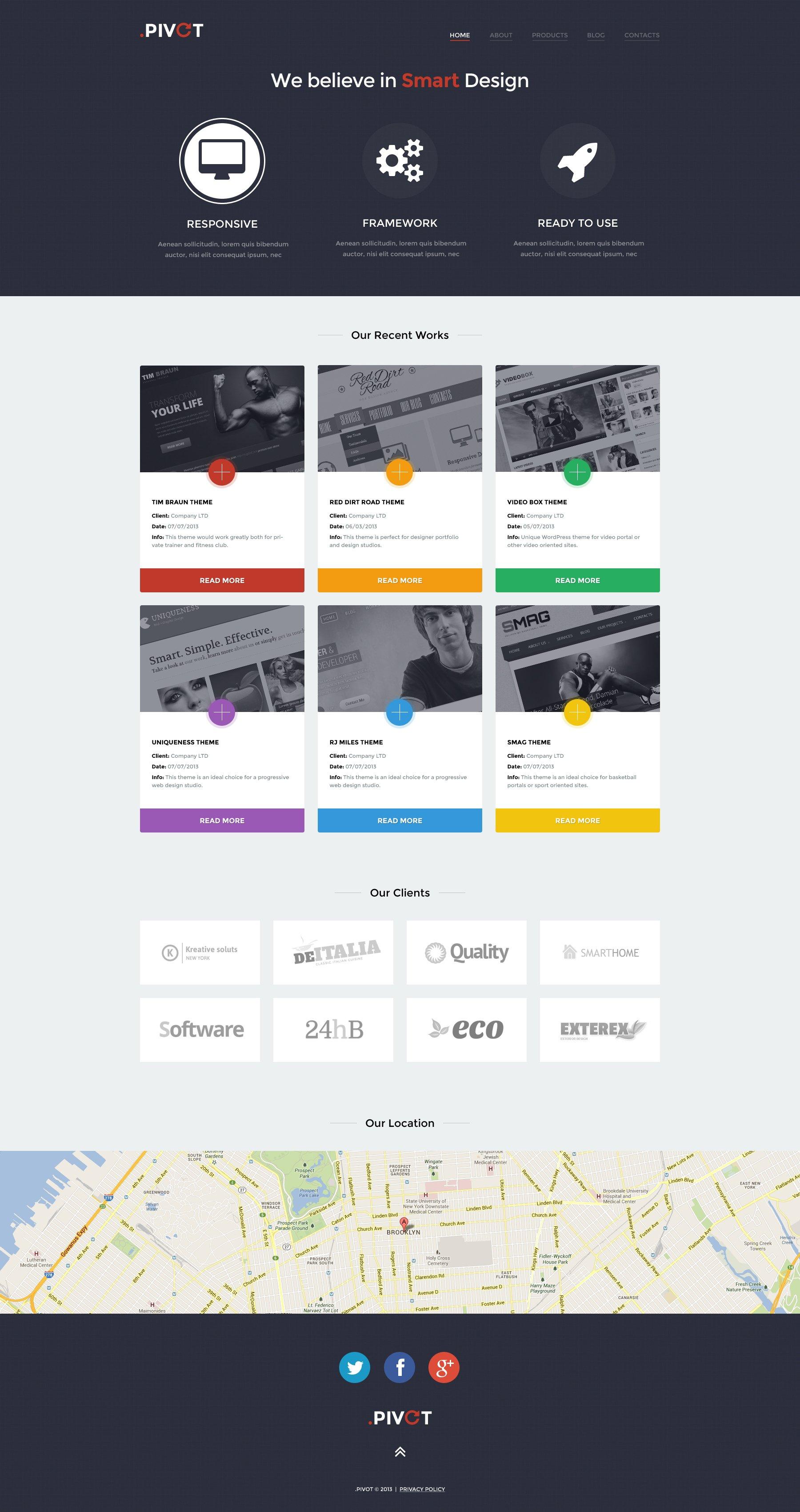Unobtrusive Design Studio WordPress Theme - screenshot