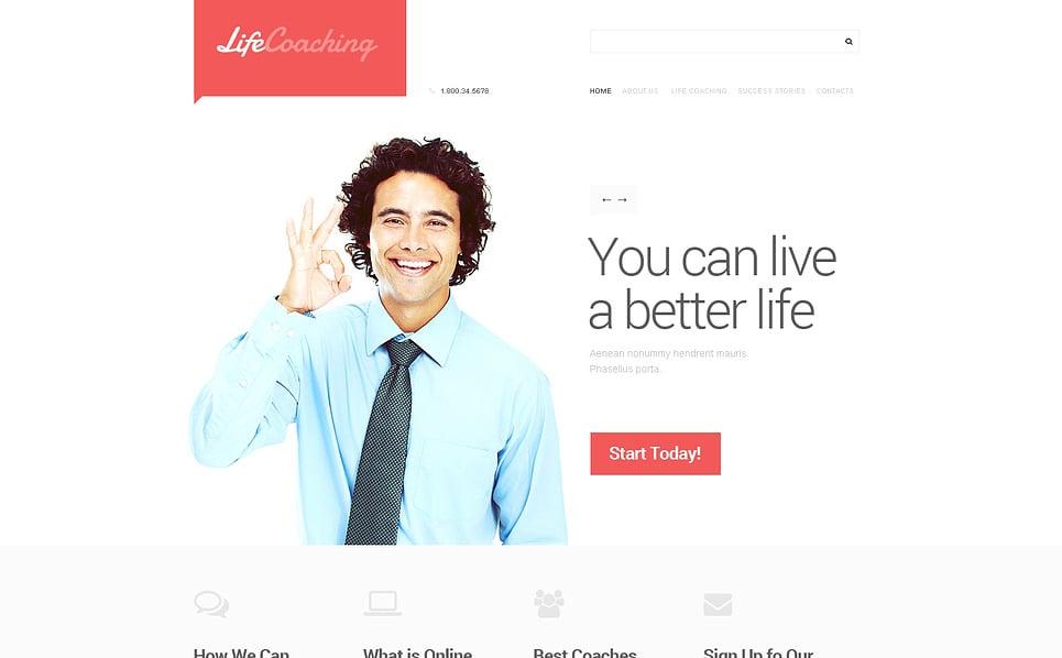 Responsive Yaşam Koçu  Web Sitesi Şablonu New Screenshots BIG