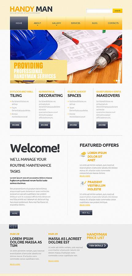 Joomla Theme/Template 47116 Main Page Screenshot