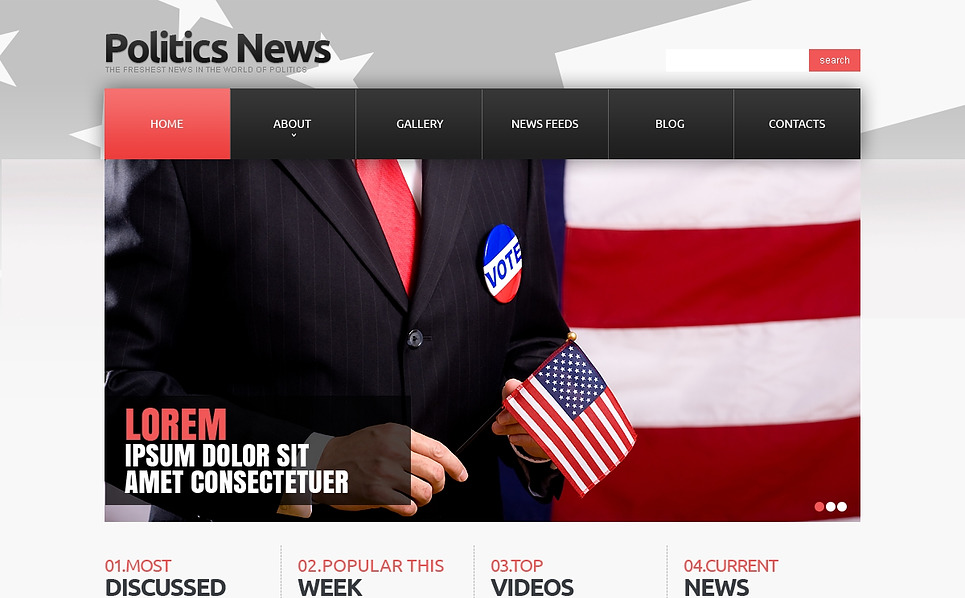 Responzivní Joomla šablona na téma Politické noviny New Screenshots BIG
