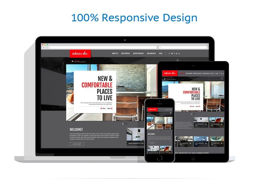 Th me joomla adaptatif 47120 pour site de design int rieur for Site de design interieur