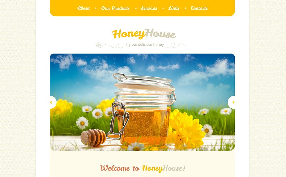 Responsive Website template over Honingwinkel  New Screenshots BIG