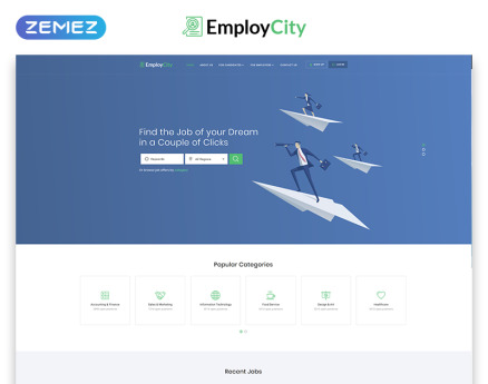 EmployCity - Job Portal Multipage HTML5 Website Template
