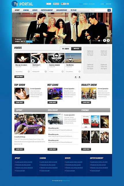 ADOBE Photoshop Template 47130 Home Page Screenshot