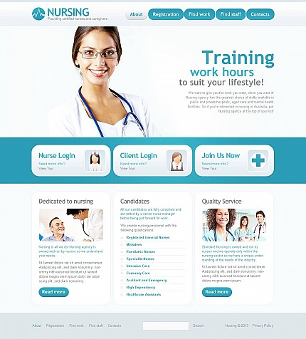 ADOBE Photoshop Template 47131 Home Page Screenshot