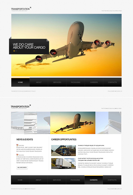 ADOBE Photoshop Template 47132 Home Page Screenshot